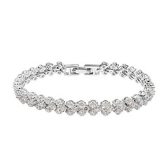 Strand Alloy With Crystal Women's Bracelets