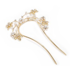 Glamourous Alloy/Czech Stones Hairpins