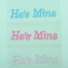 Beautiful He's Mine Rhinestone Shoe Sticker