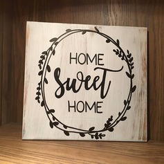 "Classic/""Love is sweet"" Sweet Wooden Wedding Sign"