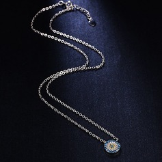 Unique Rhinestones Silver With Rhinestone Ladies' Fashion Necklace (Sold in a single piece)