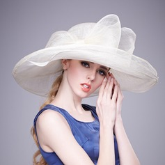 Ladies' Charming/Hottest Cambric With Bowknot Floppy Hats/Kentucky Derby Hats