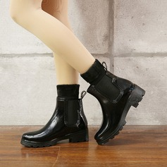 Women's PVC Low Heel Boots Mid-Calf Boots Rain Boots With Rivet shoes