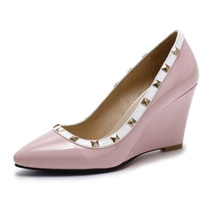 Women's Leatherette Wedge Heel Closed Toe Wedges shoes (116094406)