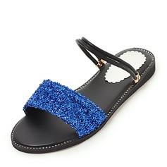 Kvinnor Majskli Flat Heel Sandaler Peep Toe Slingbacks med Flätad rem skor