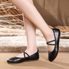 Women's Real Leather Flats Latin Dance Shoes