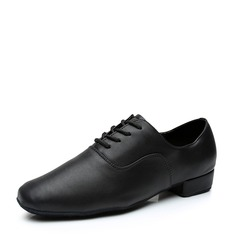 Men's Leatherette Latin Modern Jazz Ballroom Party Tango With Lace-up Dance Shoes (053107717)
