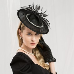Ladies' Fashion/Glamourous/Elegant/Amazing/Fancy/High Quality Cambric With Feather Fascinators