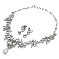 Attractive Alloy/Rhinestones Ladies' Jewelry Sets