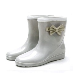 Women's PVC Wedge Heel Wedges Boots Rain Boots With Bowknot shoes (088146821)