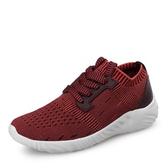 Girl's Unisex Mesh Flat Heel Round Toe Closed Toe Sneakers Sneaker & Athletic With Lace-up