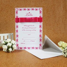 Classic Style Flat Card Invitation Cards With Ribbons  (114030739)