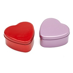 Simple Heart-shaped Favor Tin (Set of 12)