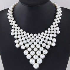 Chic Alloy Imitation Pearls With Imitation Pearl Ladies' Fashion Necklace