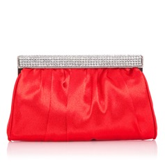 Gorgeous Polyester With Rhinestone Clutches