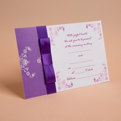 Classic Style Flat Card Invitation Cards With Ribbons (Set of 50) (114030723)