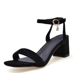 Donna Similpelle Tacco spesso Sandalo Stiletto Punta aperta Con cinturino con Fibbia scarpe