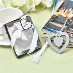 """""""Love Story""""/Heart Shaped Heart Shaped Stainless Steel Bookmarks"""
