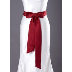 Simple Satin Sash With Bow (015003796)