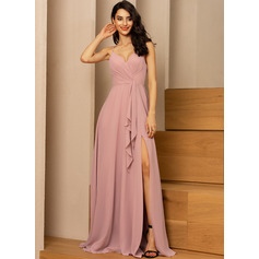 A-line Sleeveless Maxi Romantic Sexy Dresses (293237725)