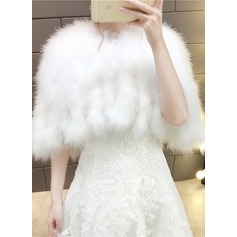 Feather/Fur Wedding Wrap (013184357)