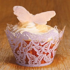 Butterfly Laser-cut Cupcake Wrapper (Set of 12)