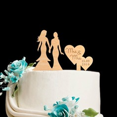 Personalized Same Sex Wood Cake Topper