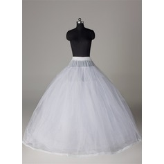 Women Tulle Netting/Satin/Lace Floor-length 8 Tiers Bustle (037117070)