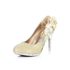 Women's Sparkling Glitter Stiletto Heel Pumps With Rhinestone shoes (085026579)