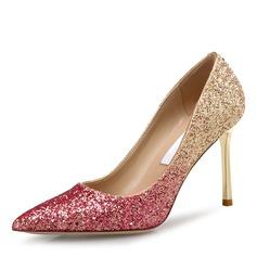 Frauen Funkelnde Glitzer Stöckel Absatz Absatzschuhe Geschlossene Zehe mit Andere Schuhe