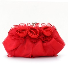 Gorgeous Satin/Tulle Clutches/Bridal Purse/Evening Bags (012005448)