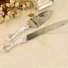 Personalized Stainless Steel Serving Sets With Diamond Rhinestone (Personalized information is only English)