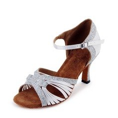 Women's Satin Sparkling Glitter Latin Dance Shoes