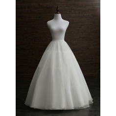 Women Nylon Floor-length 3 Tiers Petticoats