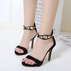 Women's Suede Stiletto Heel Sandals Pumps With Rivet shoes