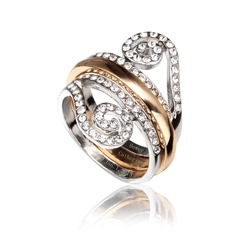 Beautiful Alloy/Platinum Plated Ladies' Rings
