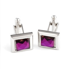 Classic Zircon Cufflink (Set of 2)