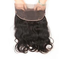 360 Frontal 4A Non remy Corps les cheveux humains Fermeture (Vendu en une seule pièce) 80g