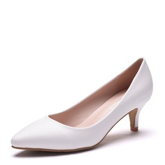 Women's Leatherette Stiletto Heel Closed Toe Pumps With Others (047144252)