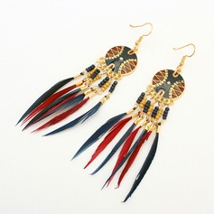 Mode Legering Resin Feather met Feather Dames Fashion Oorbellen