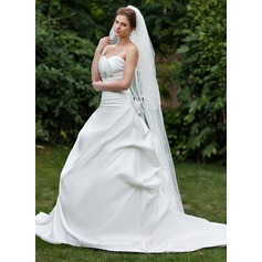Four-tier Scalloped Edge Chapel Bridal Veils