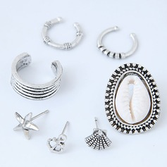 Nice Alloy Women's Fashion Earrings (Set of 7)
