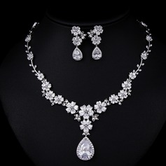 Beautiful Zircon Ladies' Jewelry Sets (011109965)