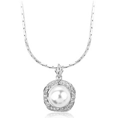 Pretty Alloy/Pearl With Rhinestone Ladies' Necklaces (011042067)