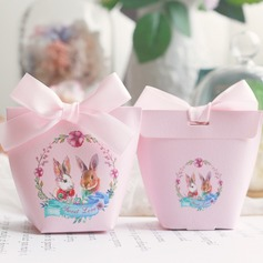 Sweet Love/Lovely Other Card Paper Favor Boxes With Ribbons