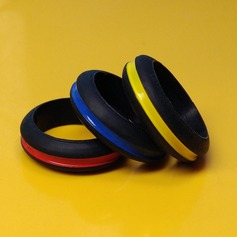 Gorgeous Silicone Unisex Fashion Rings (Sold in a single piece)
