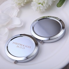 Personalized Round Iron Compact Mirror (Set of 4)
