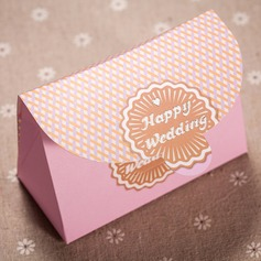 """Happy Wedding"" Handbag shaped Favor Boxes (Set of 12)"