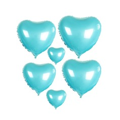 10pcs - 10inch Blue Heart Shaped Balloons (set of 10)