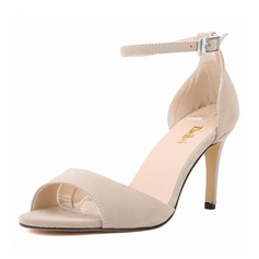 Women's Suede Stiletto Heel Sandals Peep Toe shoes (087091912)